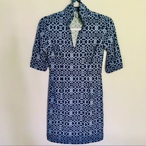 Jude Connelly Dress - XS navy /powder blue